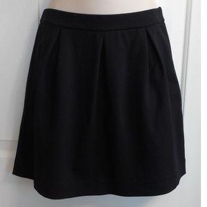 Madewell J Crew Black Stretch Short Skirt Pleats 4